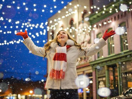 Woman Snow - Food allergies are tough on moms during the holidays