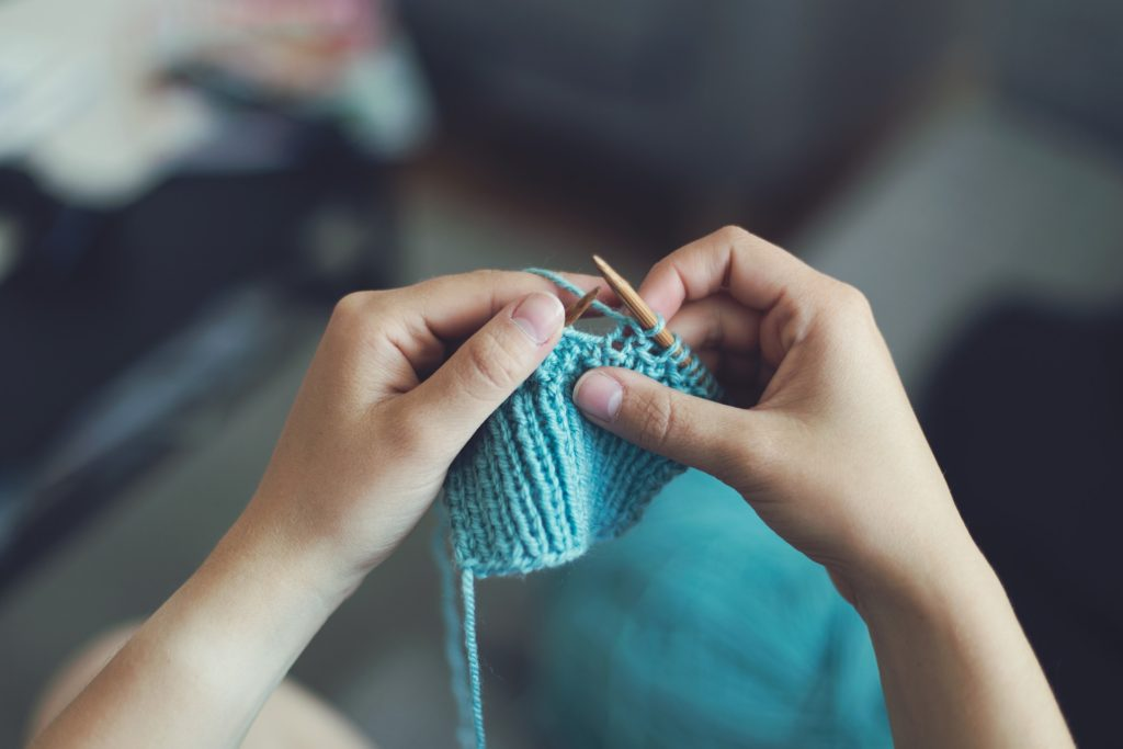 Knitting - Get your mom side hustle on!