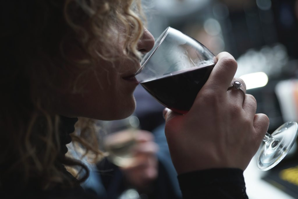 Woman Drinking - Escapism isn't the cure for moms making time for themselves