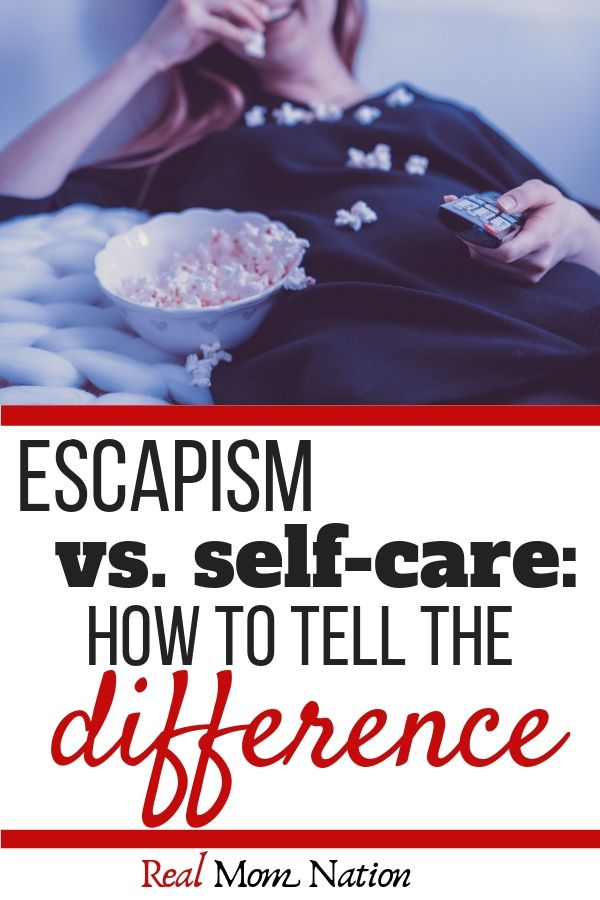 Woman eating - Escapism VS Self Care - How to tell the difference