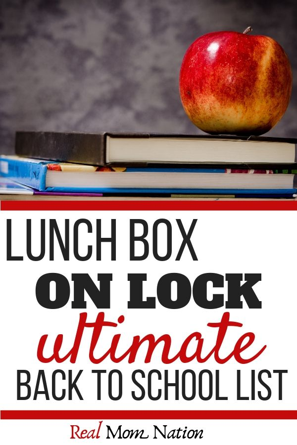 Apple and Books - Lunch Box on Lock - Ultimate Back to School List