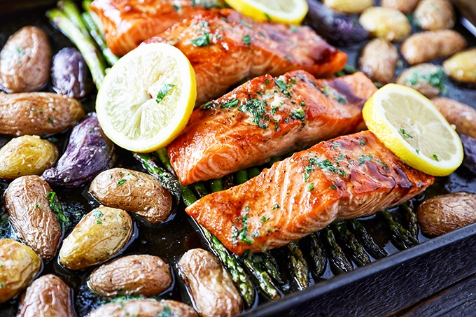 Sheet Pan Salmon Dinner from No 2 Pencil