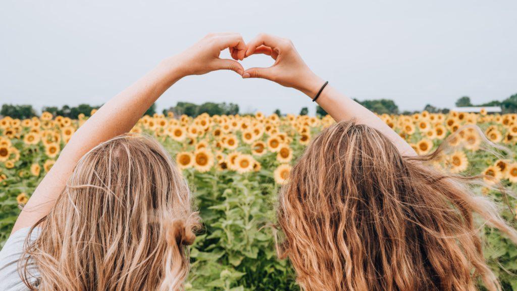 Girls making heart with hands - Three Breath Hug: A Habit Every Mom Needs