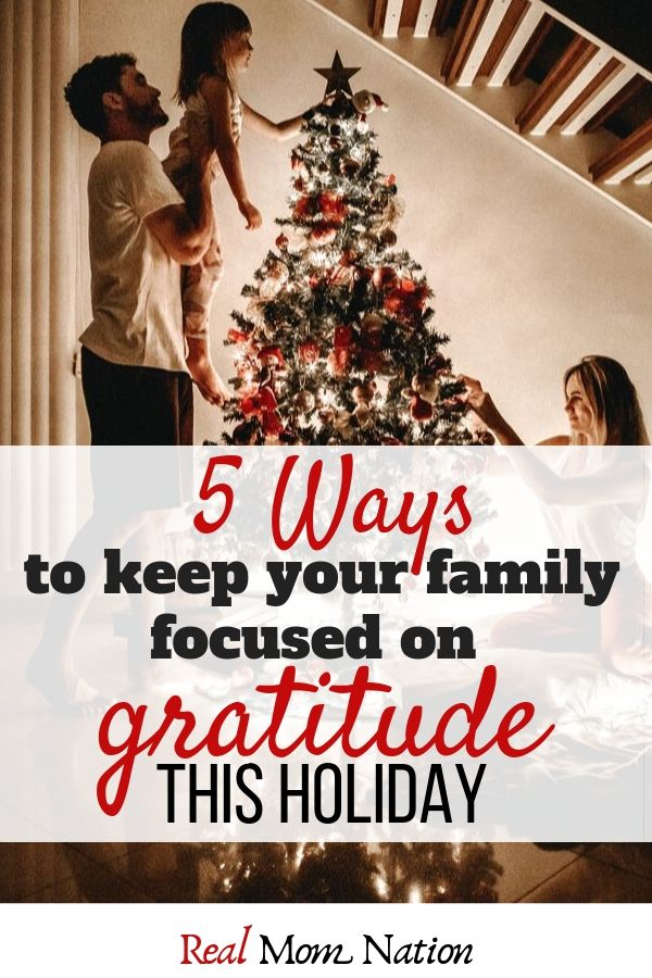 Family Christmas Tree - 5 ways to keep your family focused on gratitude this holiday