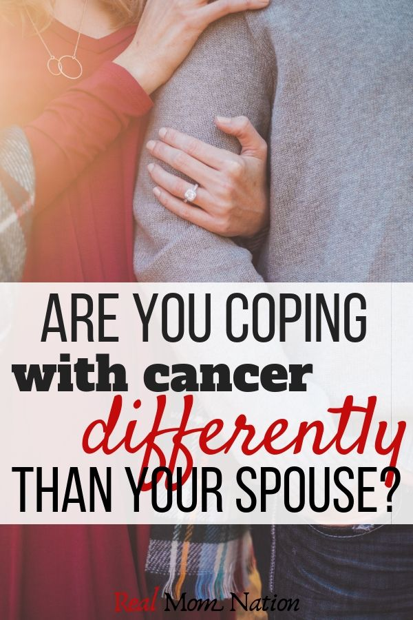 Hugging - Are you coping with cancer differently than your spouse?
