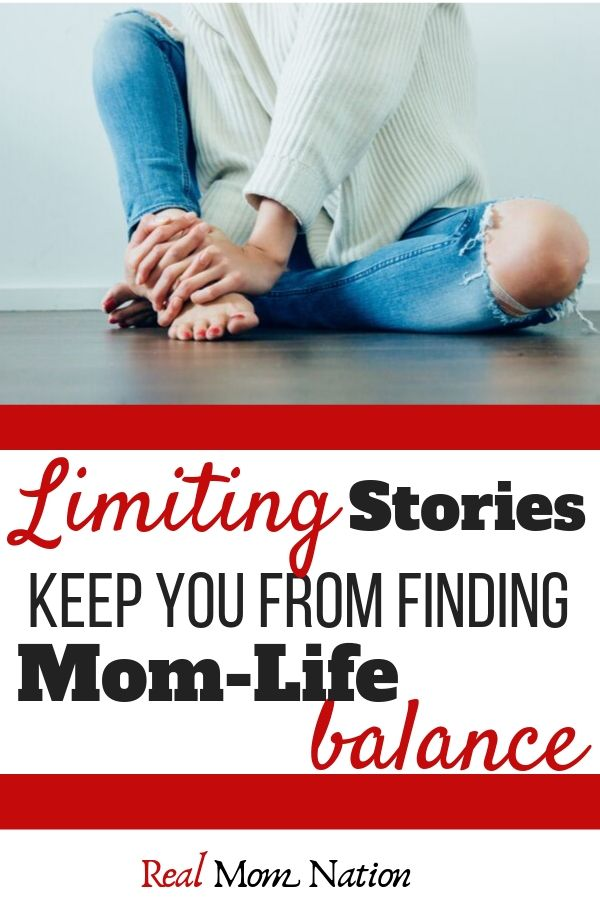 Woman Sitting - Limiting Stories Keep you from finding a mom life balance