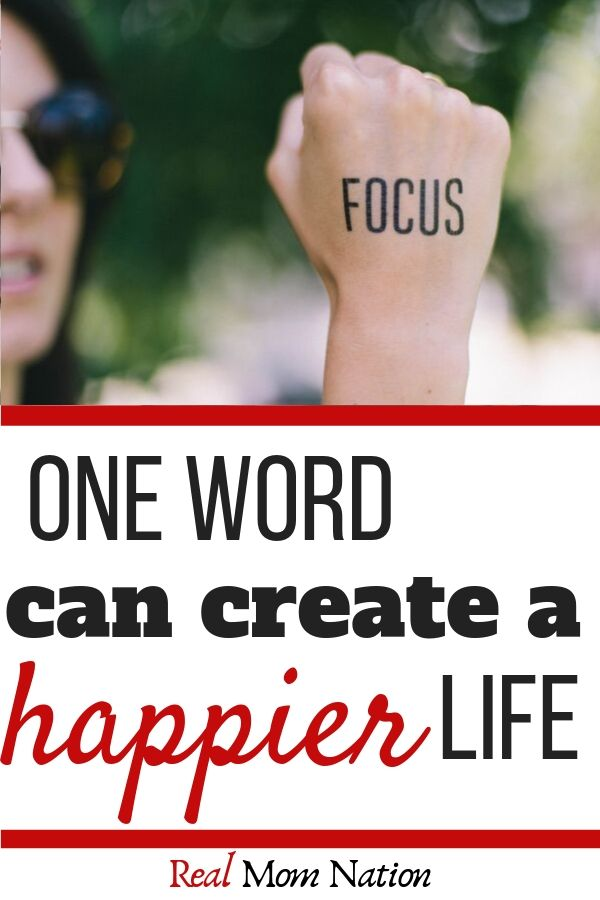 Focus Hand - One Word for Happiness