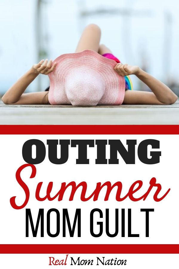 Woman in hat - Outing summer mom guilt