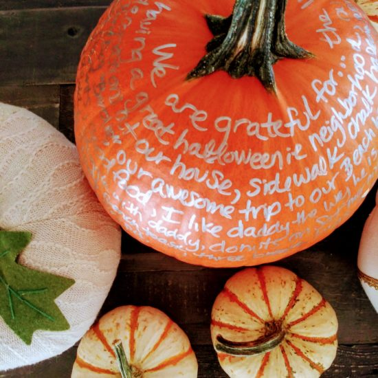 Pumpkins - DIY Centerpiece Fall Gratitude Pumpkin