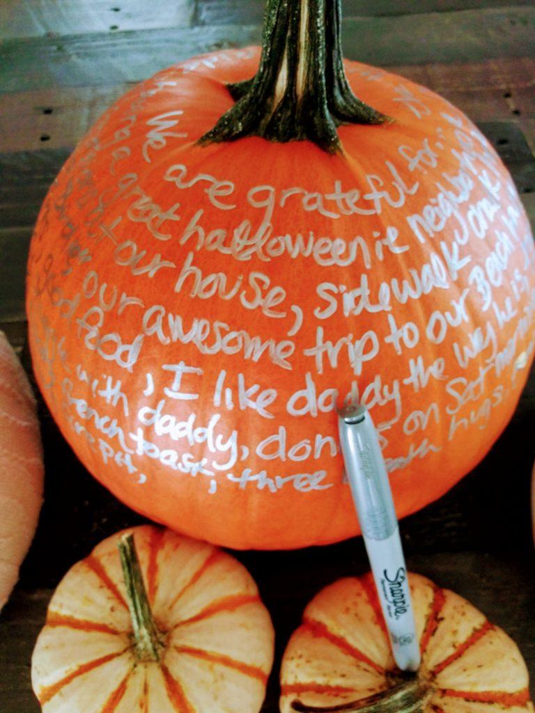 Pumpkins - DIY Fall Thanksgiving Gratitude Practice
