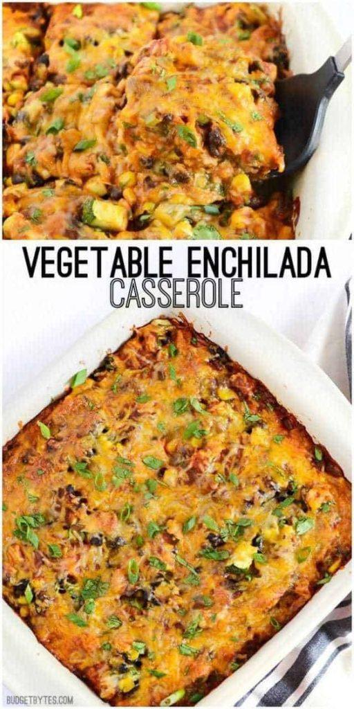 Budget Bytes Vegetable Enchilada Casserole