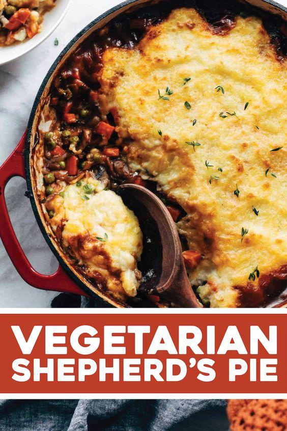 Pinch of Yum Vegetarian Shepherd's Pie
