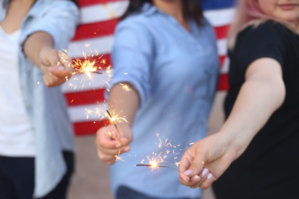 Women with Sparklers - Kids Free Mom Group
