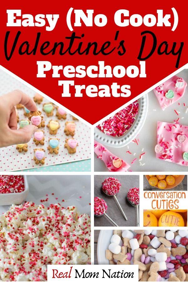 Pin - Easy No Cook Valentine's day Preschool Treats