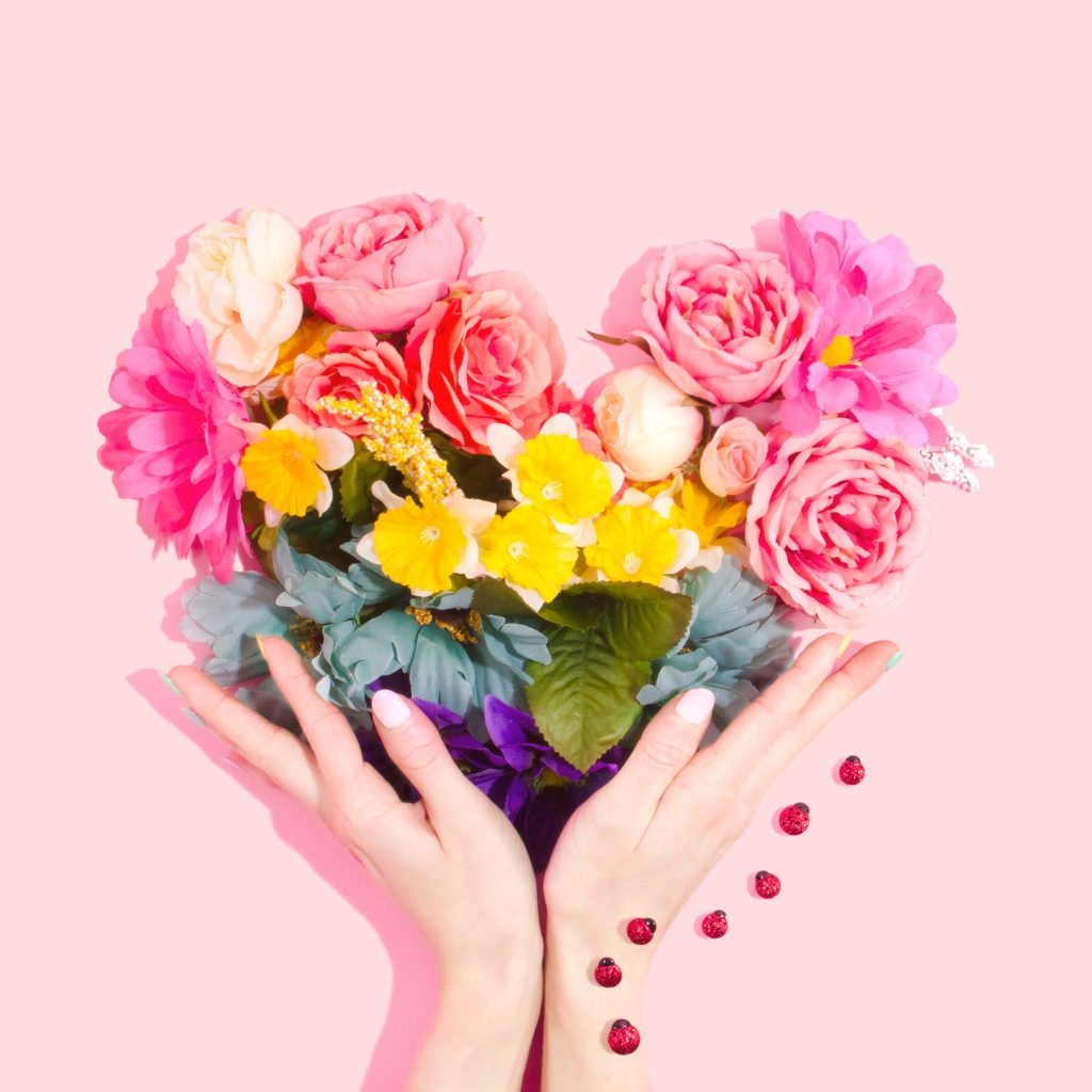 Heart Flowers - Galentine's Day Ideas