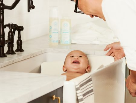Man Bathing Baby - What Women Really Want for Valentine's day