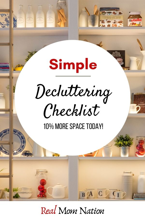 PIN - Simple Decluttering Checklist - Get 10% MORE space today!