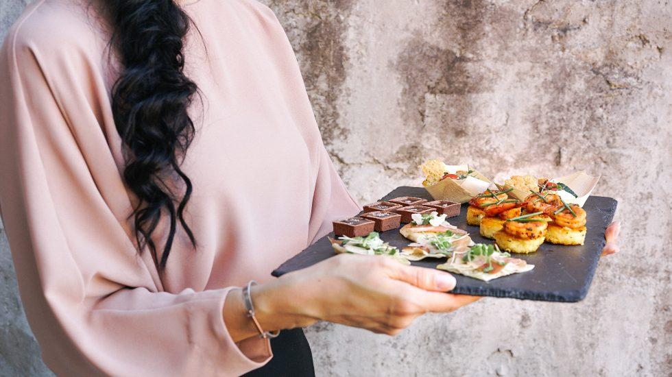 Waitress - Mom Serving Vegetarian Meals