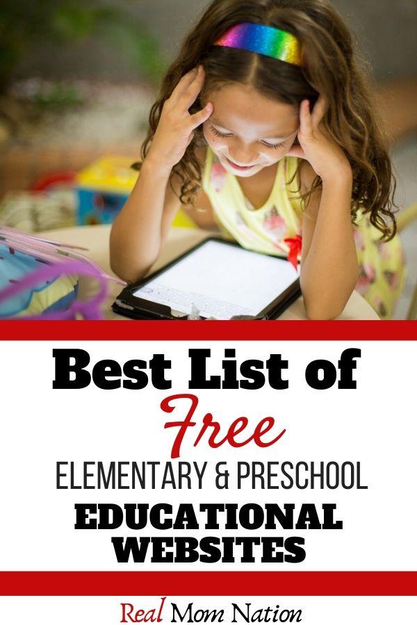 Girl With Ipad - Best List of Free Elementary & Preschool Educational Websites