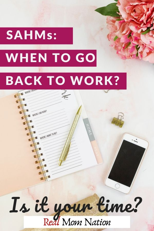 PIN - Stay At Home Moms Go Back To Work