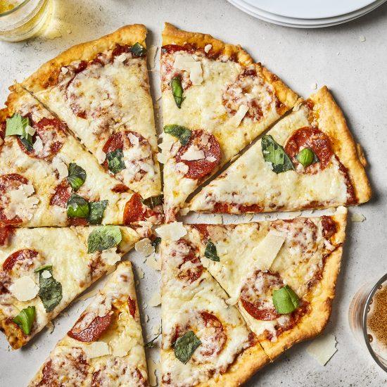 Thin Crust Pizza - Best No Yeast Pizza Dough