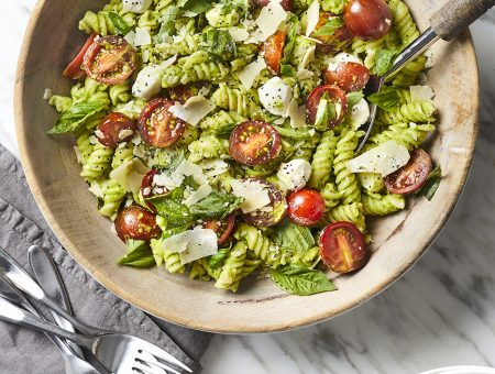 Green Pea Pesto Pasta Salad