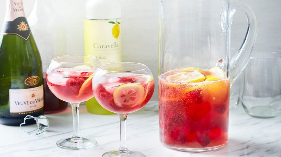 Raspberry Lemonade Prosecco Punch
